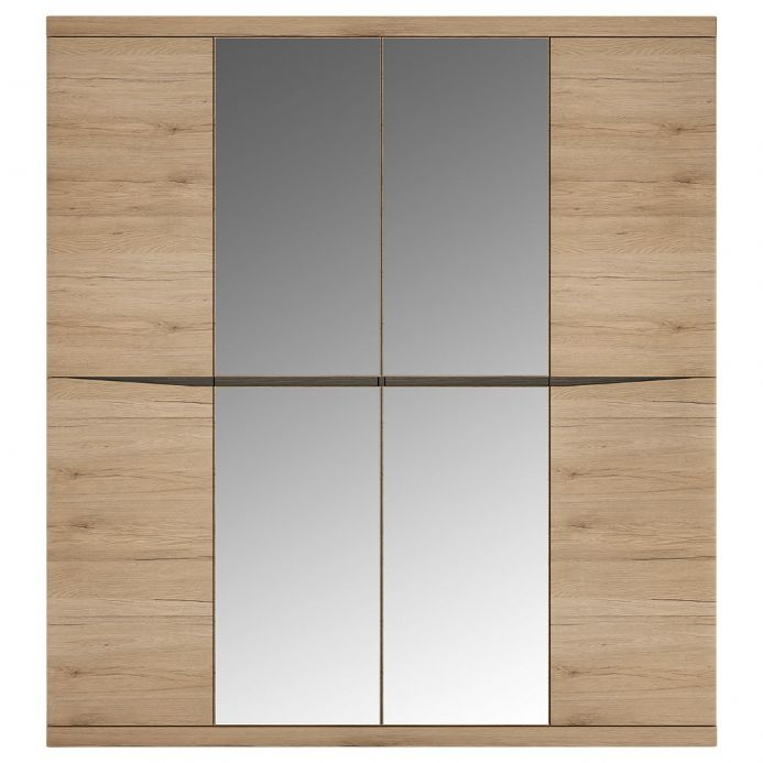 4 Door Wardrobe with 2 Mirror doors